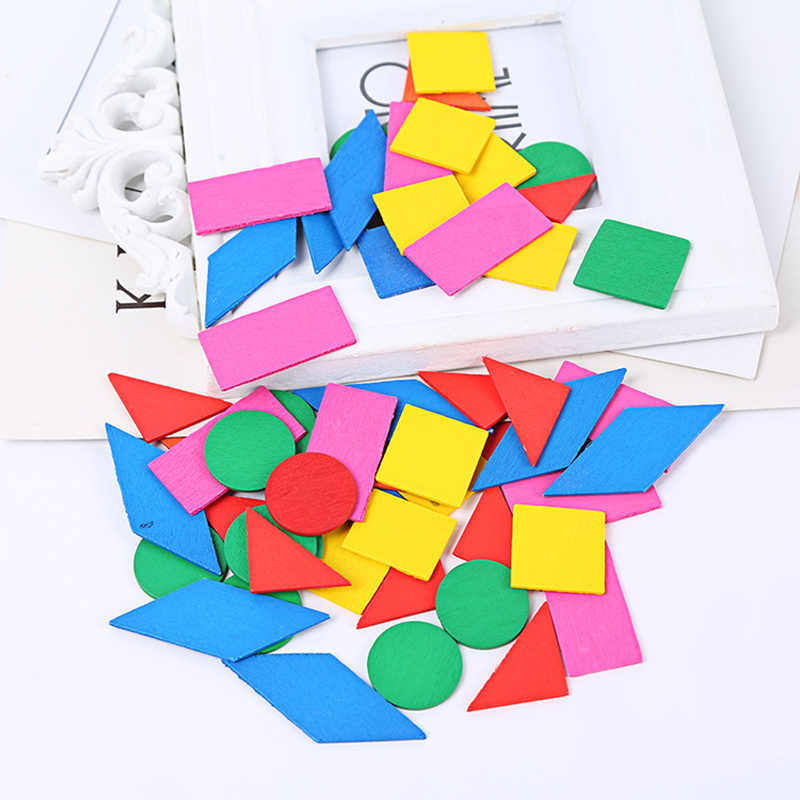 Montessori Wooden Math Puzzle Toys for Children Early Education Teaching Math Toys Wood Sensory Preschool Geometry Gifts