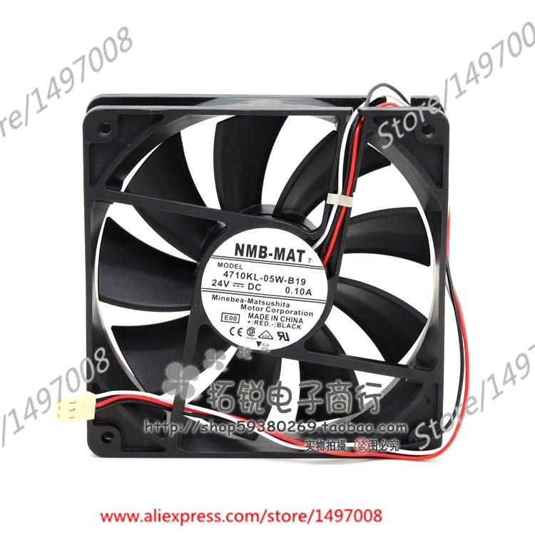 NMB-MAT 4710KL-05W-B19, E00 DC 24V 0.10A 120X120X25mm Server Square fan sw 05w