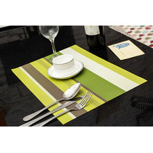10PCS New Pvc Striped Insulation Kitchen Placemats Coasters Insulation Western Dining Table Colour Mats Sales