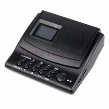 Y4308Z Mejor Llamada Telefónica Profesional Grabadora de Voz Digital Monitor con Pantalla LCD + Identificador de llamadas + Reloj 110 V/220 V Grabadora de Teléfono