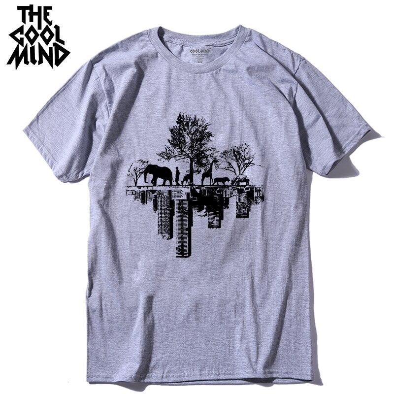 COOLMIND qi0410A top quality pure cotton casual short sleeve men t shirt summer loose men tshirt male t-shirt men tee shirtsLMYX