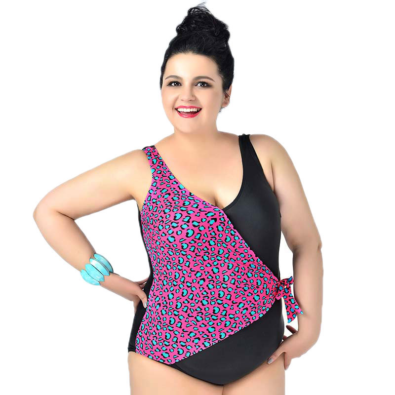 Leopard Backless swimsuits women Sexy Plus size swimwear woman one pieces swimming suit New Brand female large size beachwear extra large size or more beach tropical swimsuits one pieces swimwear women 2017 monokini brand