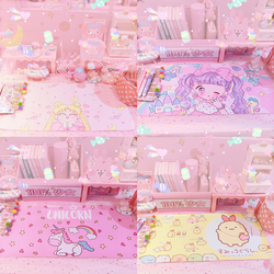1pc Japan Cartoon twin stars melody anime desk mat sumikko large wrist rest pad mouse PC desk padmouse