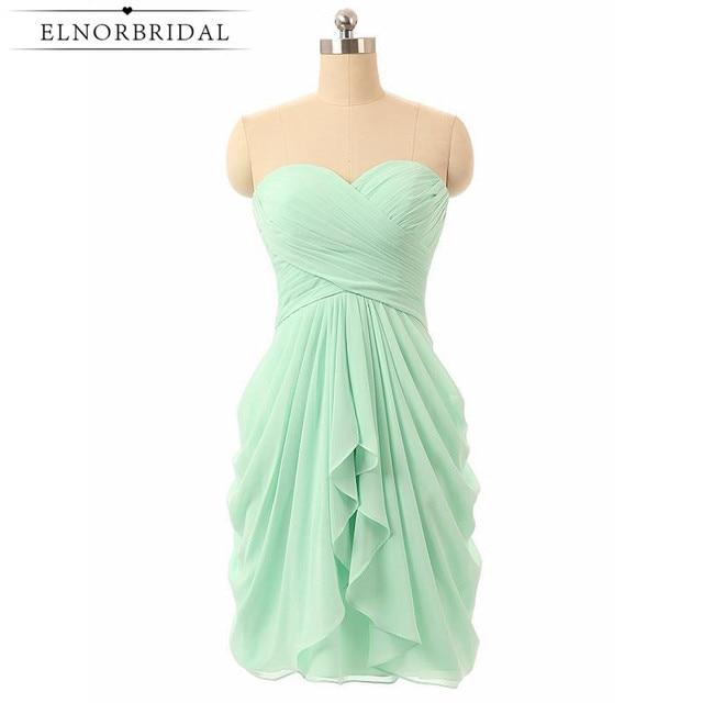 Vestidos de novia cortos verde menta