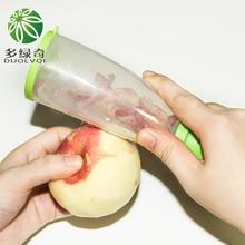 DUOLVQI multifunctional Apple Peeler Cutter Vegetable Tools Fruit Plastic Trash Storage Case Kitchen Gadgets