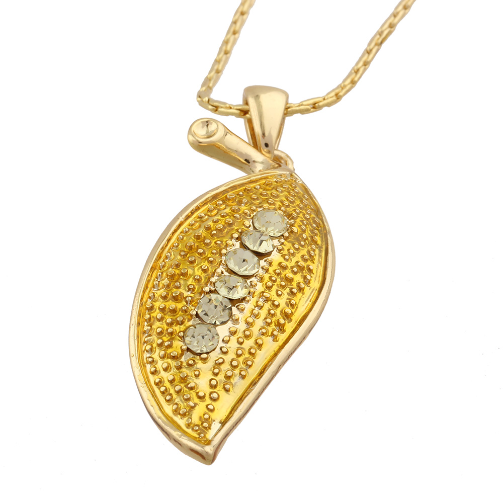 fashion jewelry for woman necklaces pendant collier flower gold ...