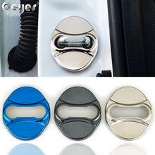 Ceyes Car Styling Accessories Stainless Steel Case For Kia Ceed Venga Sportage K2 Soul Rio Auto Protective Door Lock Covers 4pcs