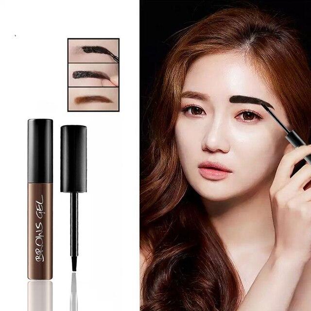 3 Colors Peel Off Henna Eyebrow Gel Brown Color Make Up Natural Long Lasting Waterproof Eye Brow Tattoo Tint Eyebrows Enhancer 1