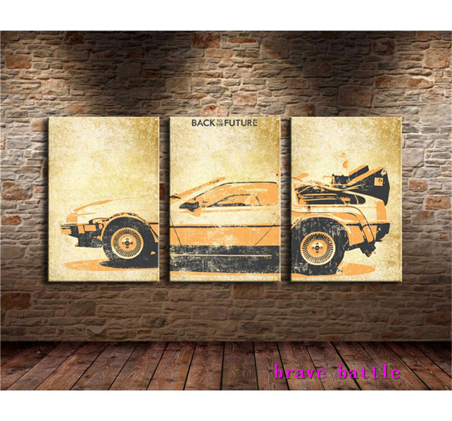 Back To The Future Canvas Painting Living Room Home Decor Modern Mural Art Oil Painting