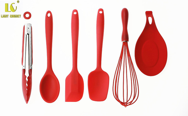 Lc 6 Pieces Cooking Utensils Baking Tools Bakeware Set Silicone Dishwasher Safe Bpa Free
