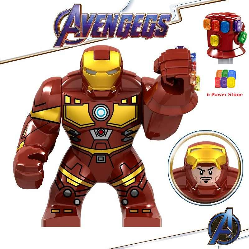 Avengers 4 Endgame Legoed Marvel Iron Man Infinity Gauntlet Thanos Action Figures Building Blocks Model Children Gift Toys