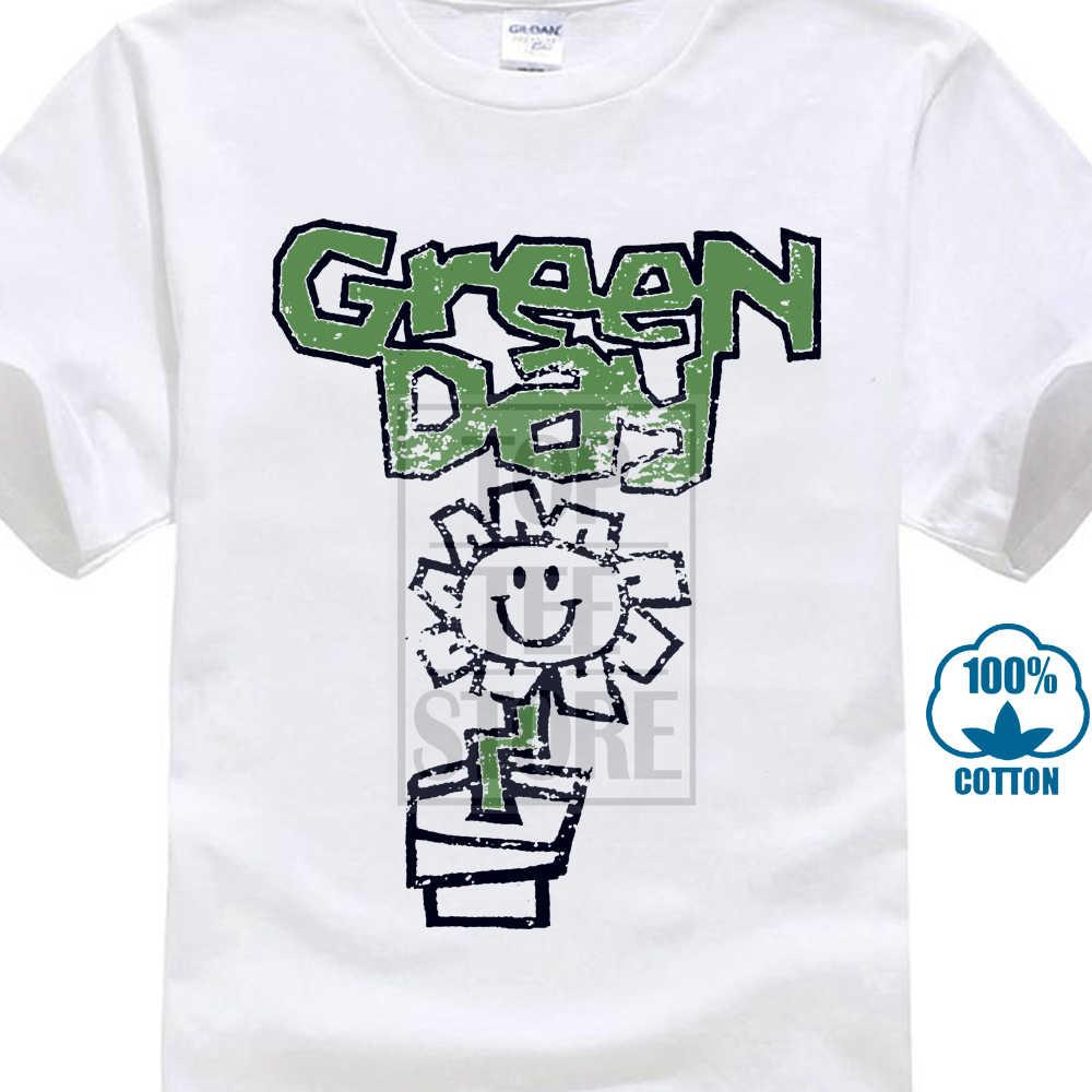 a442d3d4 New 100% Cotton Green Day Flower Pot T Shirt Kerplunk Live On Air Insomniac  Demolicious