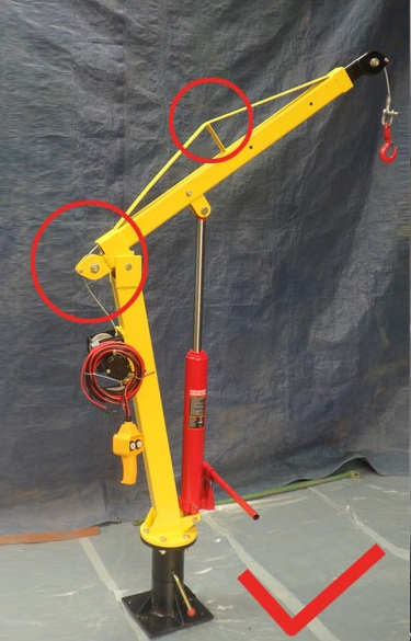Mobile Tire Service >> 500KG hydraulic truck crane with 24V electric winch pick up truck motorcycle lifting jib crane ...