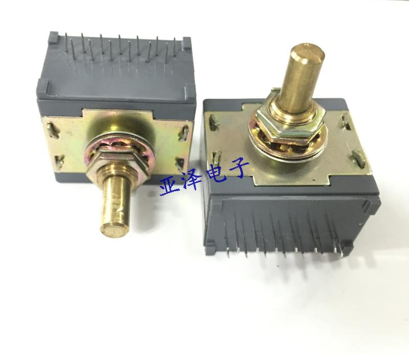 2PCS/LOT Imported MPS 33 sealed rotary band switch, 1 knives, 12 stalls, 360 degrees rotation, switching, switch 20 axis band switching signal switch 3 knives 4 files