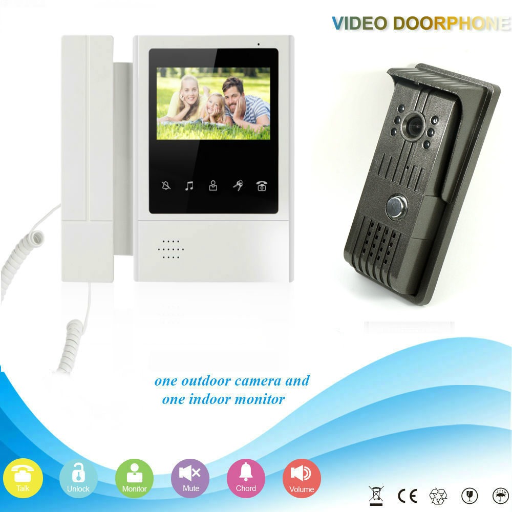YobangSecurity 4.3inch Color Monitor Video Door Phone Doorbell Intercom Waterproof Camera Rain Cover With Telephone Style