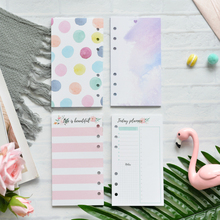 Lovedoki A5A6 Planner Refill For Filofax Dokibook Spiral Notebook 6 Holes