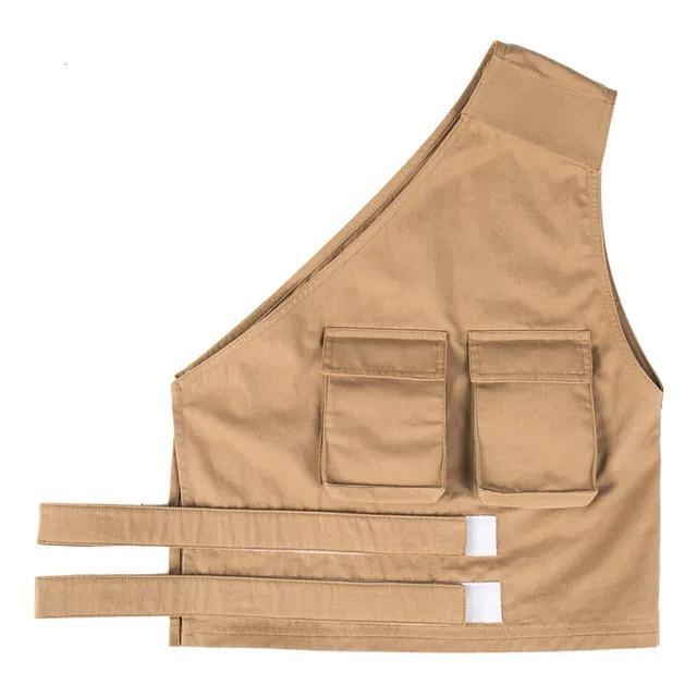 LEONSENSE Men Multi-Pocket Classic Waistcoat Male Sleeveless Unloading Solid Coat Work Vest Photographer Tactical Masculino Jack
