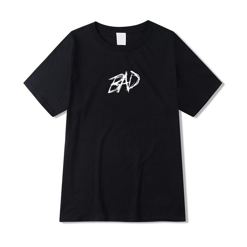 Xxxtentacion Футболка мужская летняя футболка высокого качества Повседневная Xxxtentacion Bad хип-хоп футболка с круглым вырезом Мужская хлопковая футб...