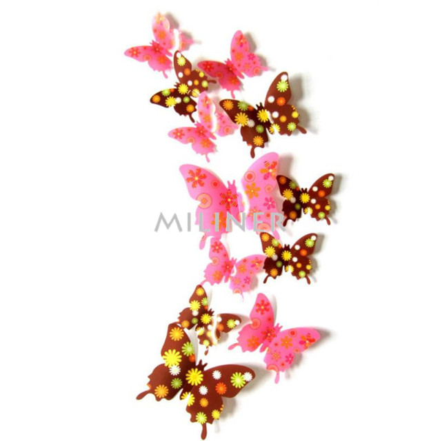 Wall decor cute butterflies wall stickers art Decals for home Decoration