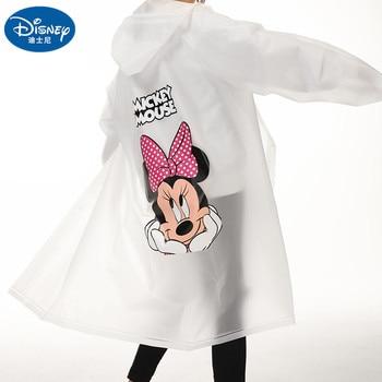 Disney Adult Mickey Mouse Minnie Raincoat EVA Material Girls Women Rainproof Poncho Rain gear Boys Men's Rainsuit Travel Walk