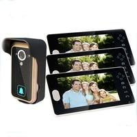 7inch Wireless Intercom Doorbell with 3 Monitors