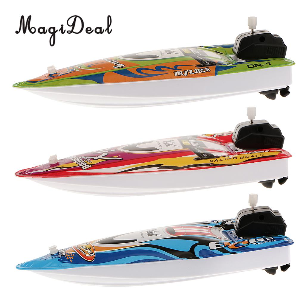 Kids Children Inflatable Wind Up Speedboat Boat Pool Bath Toy Classic Toys BR