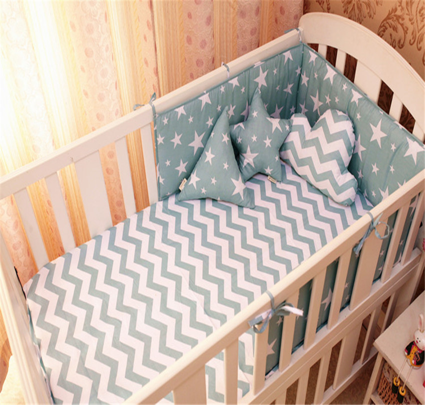 9 Color Baby Bumpers Cotton Soft Anti Collision Baby Bedding Bumper Printing One Slice Crib Decoration Baby Bed Bumper Bedding