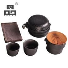 TANGPIN ceramic teapot gaiwan teacups chinese teaware portable travel tea sets with bag