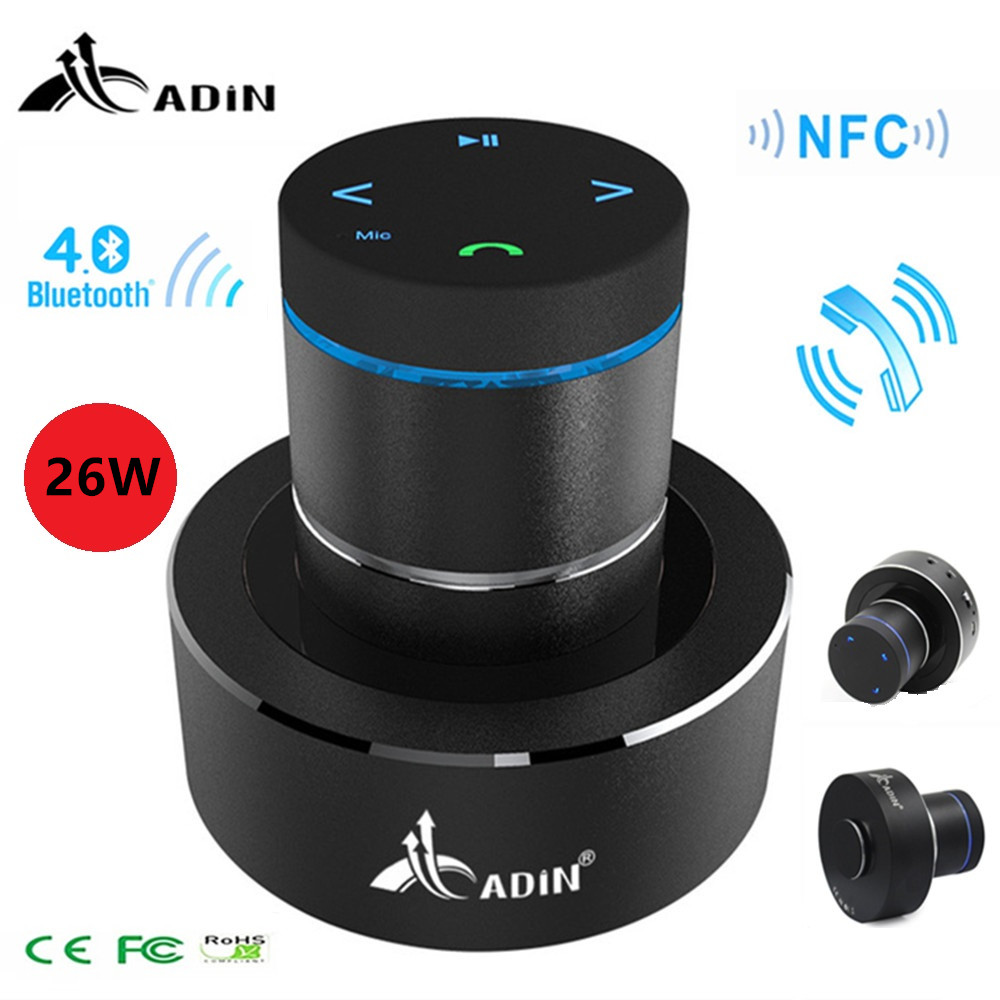 Adin 26w Vibration Speaker Bluetooth Resonance Vibration Touch Stereo Mini Portable Bass Speaker Subwoofe NFC Handsfree with MicAdin 26w Vibration Speaker Bluetooth Resonance Vibration Touch Stereo Mini Portable Bass Speaker Subwoofe NFC Handsfree with Mic