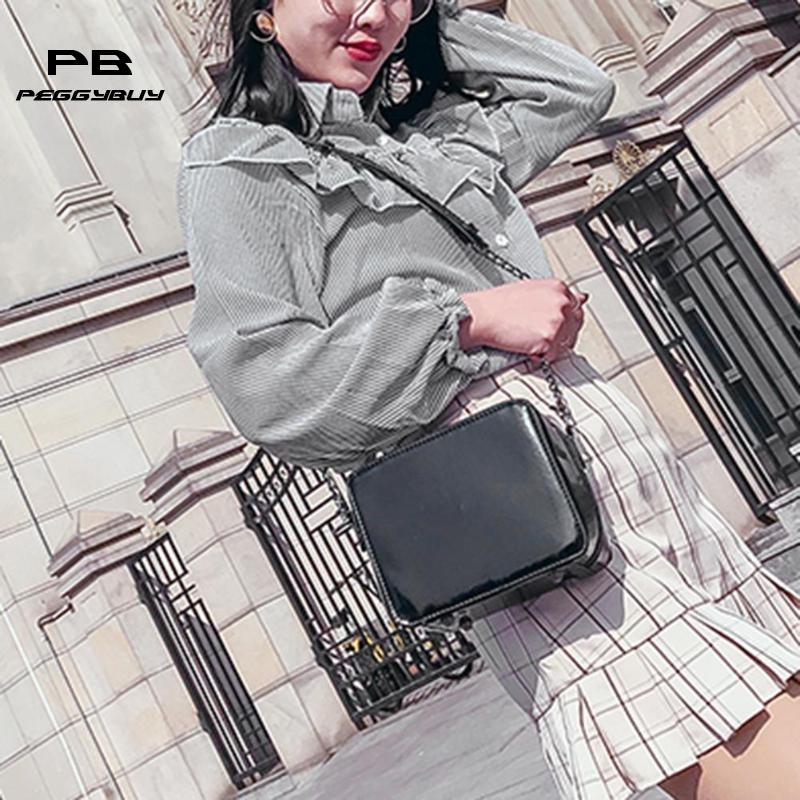 Для женщин лазерная Зеркало квадратный Сумки высокое качество цепи из искусственной кожи Курьерские сумки Портативный модные Обувь для де...