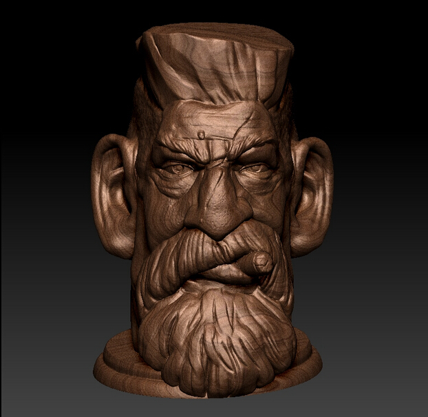 3D Model For Cnc Or 3D Printers In STL File Format Huntsman Statue Head