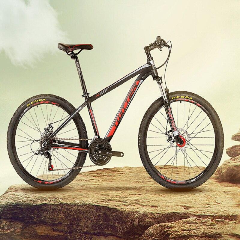 Mountain bike 21-speed dual disc brakes inner line men/women bicycle