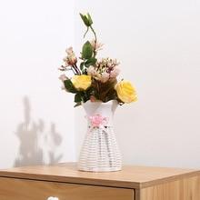 Пластиковая ваза из ротанга для домашнего декора, корзина для цветов, корзина из ротанга, украшение для свадебного стола, ваза для цветов, свадебная ваза