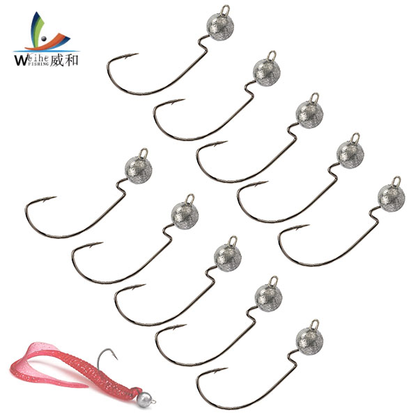 10pcs/lot Norway Crank lead sharp Hooks 3.8g/7.5g/10.5g fishing hook Jig Head Lead Hook  For Soft Lure Fishing Tackle
