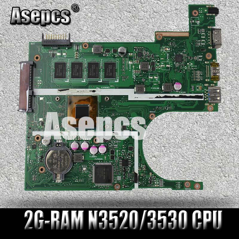 Asepcs X200MA Laptop Motherboard For ASUS X200MA F200MA Test Original Motherboard 2G-RAM N3520/3530 CPU