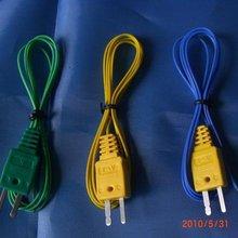 Термопара., штекер термопары, Тип K, желтый/зеленый/синий разъем, быстрая