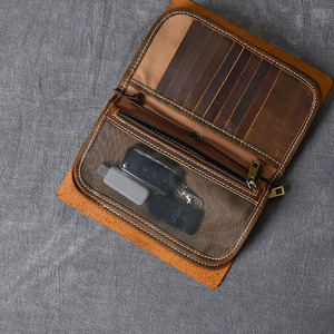 Image 3 - Aetoo Multifunctionele Crazy Horse Lederen Heren Clutch Retro Lederen Telefoon Tas Lederen Clutch Kit