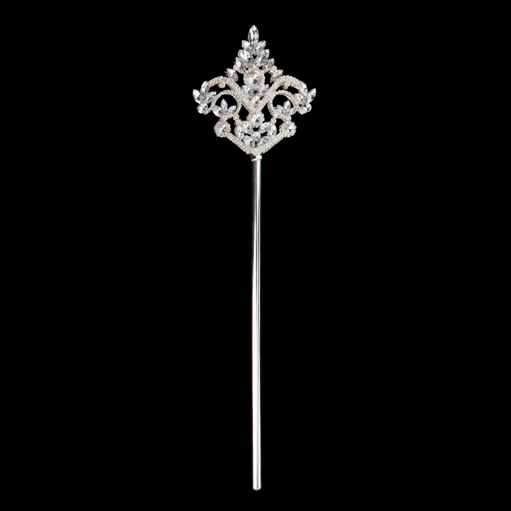 Blue Heart Bling Scepter Magic Fairy Wand Kids Girl Party Accessory Costume Prop