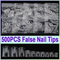 Hot Selling 500pcs Clear French False Nails Acrylic UV Gel Foot Toe Nail Art Tips DIY Manicure Decoration