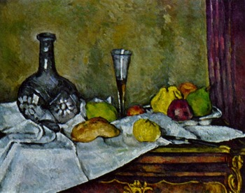 Handmade Oil Painting Reproduction on linen canvas,dessert-1877 BY paul Cezanne ,Free Shipping ,TOP quality