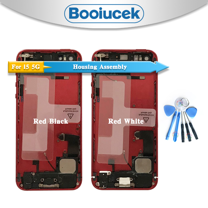 AAA For IPhone 5 5G 5S SE With Flex Cable Back Housing Full Assembly Battery Cover Door Rear Middle Frame Chassis With Tools