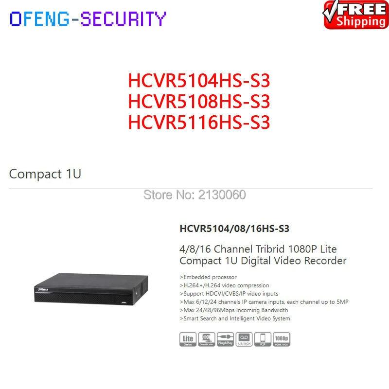 dvr recorder Dahua XVR HCVR5104HS-S3 HCVR5108HS-S3 HCVR5116HS- 4ch 8ch 16ch 1080P Support HDCVI/ AHD/TVI/CVBS/IP Camera inputs dahua xvr video recorder xvr5408l xvr5416l xvr5432l 8ch 16ch 32ch 1080p support hdcvi ahd tvi cvbs ip video inputs