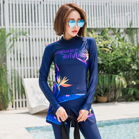 Women's Long Sleeve Basic Tee Rashguard UPF 50+ Bathing Suits Rash Guard Swimwear UV Swimsuit Top & Bottoms Sun UV Compression