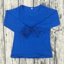 High Quality Wholesale Icing Ruffle Shirt Children Girl Autumn Comfortable Long Sleeve Shirts Cheap Wholesale