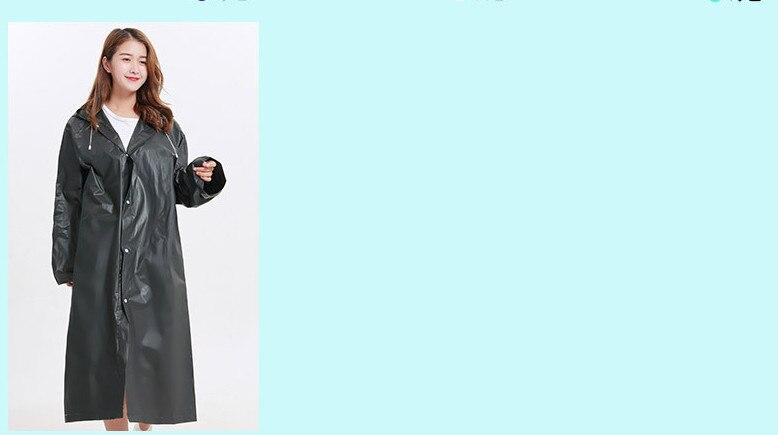 9.Fashion EVA Women Raincoat Thickened Waterproof Rain Coat Women Clear Transparent Camping Waterproof Rainwear Suit Rain jacket_