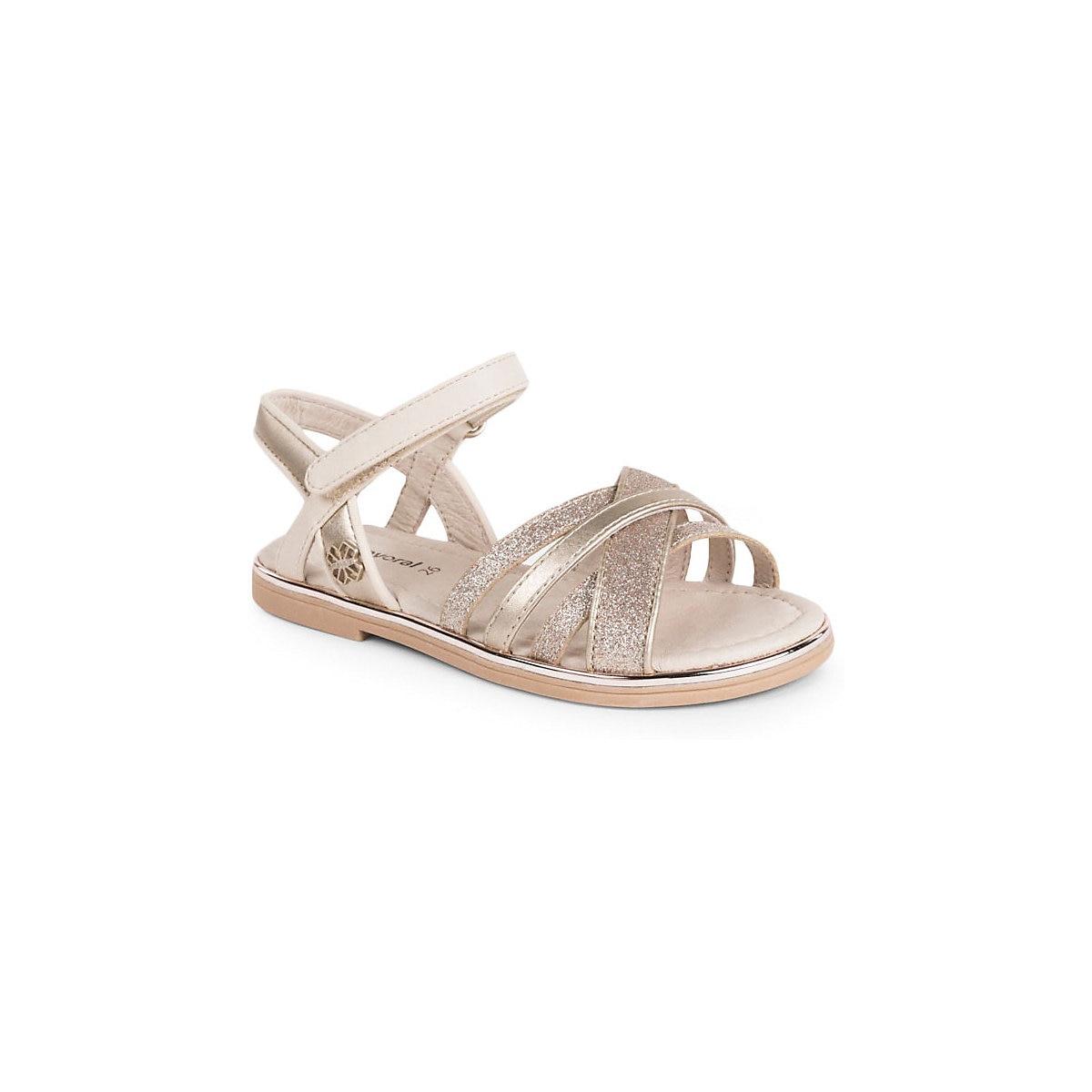 MAYORAL Sandals 10643535 children\'s shoes comfortable light summer Girls Beige Hook & Loop Sequined MTpromo chocolate box girls summer s dream