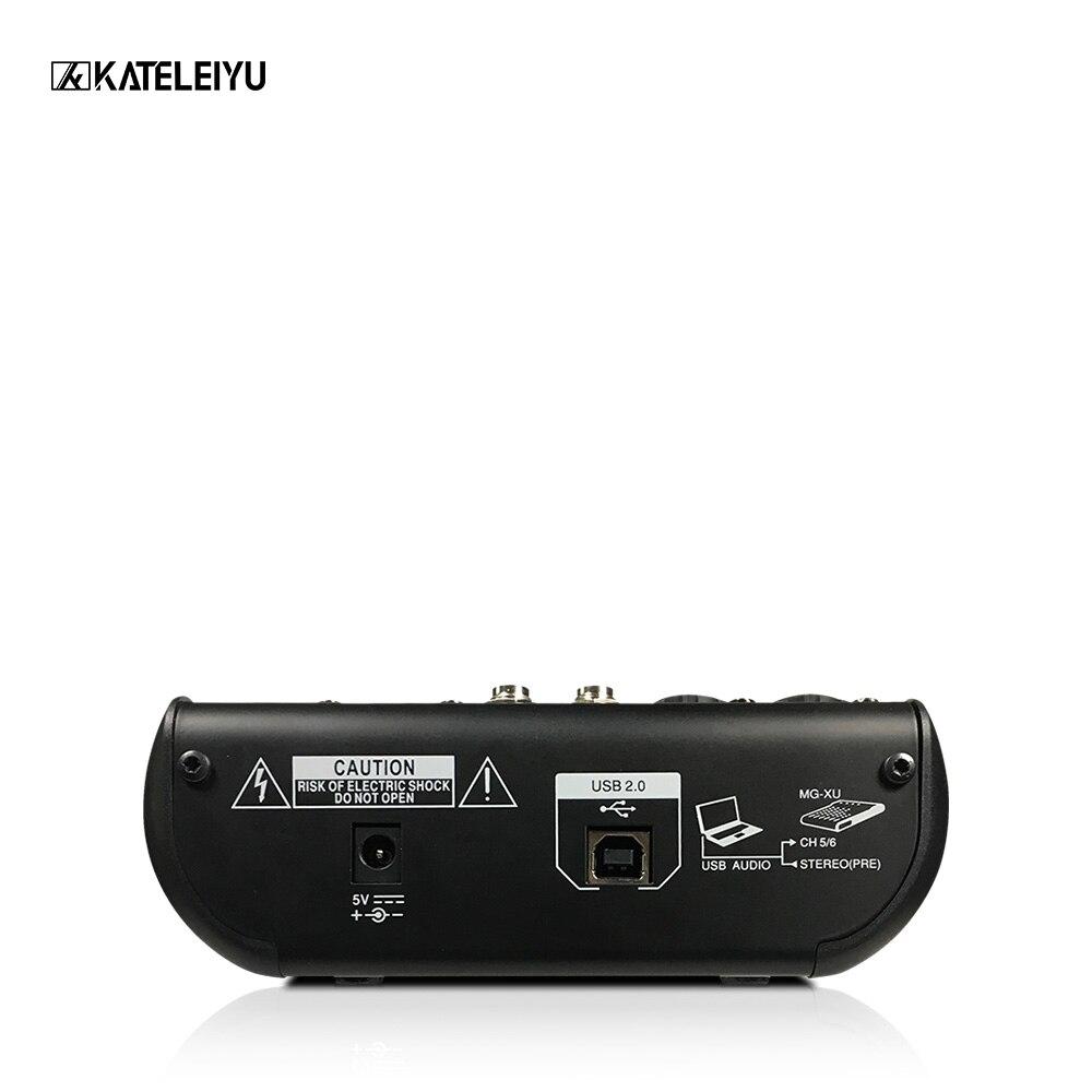 Mini 6-Kanal Karaoke Mikrofon Digitale Audio Integrierte 48V phantom power mit USB Professional DJ Mixer Effekte Prozessoren