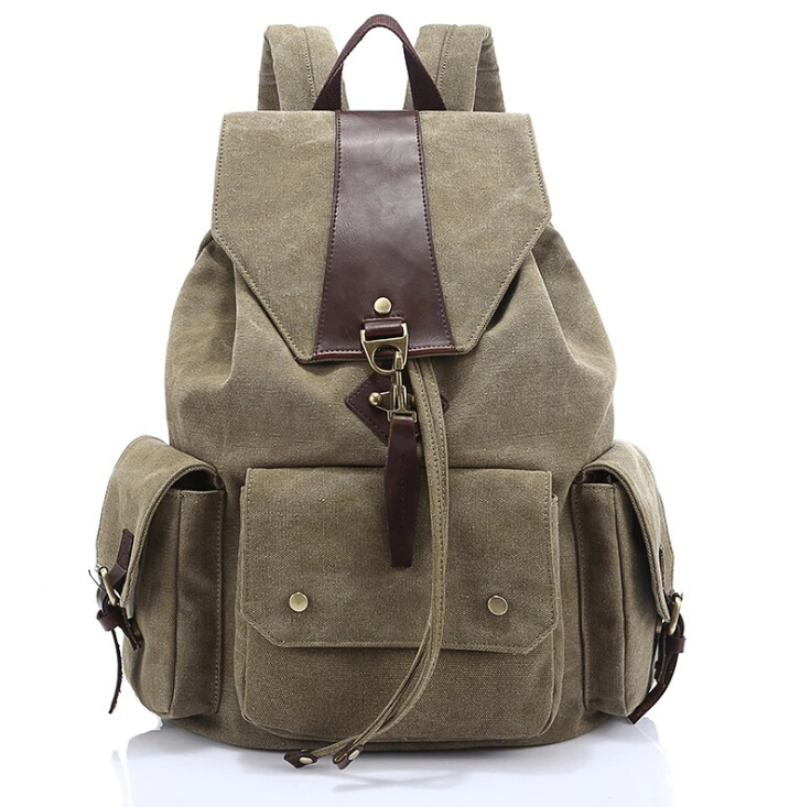 Top Quality Canvas Fashion women solid Backpacks girl Travel Bag Casual School Backpack For Teenage Girls Laptop Bag