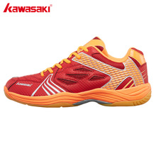 Kawasaki Sneakers Professional Badminton Shoes Wear-resistant Rubber Anti-Slippery Indoor Court Sports Shoe for Men Women K-071 li ning professional badminton shoe for women cushion breathable anti slippery lining shock absorption athletic sneakers ayal024