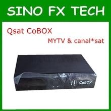 Q19G África QSAT decodificador livre relógio MYTV no 16E e canais Franceses em 22 W QSAT COBOX substituir de QSAT Q28G